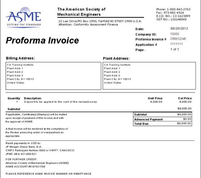 Proforma Invoice là gì